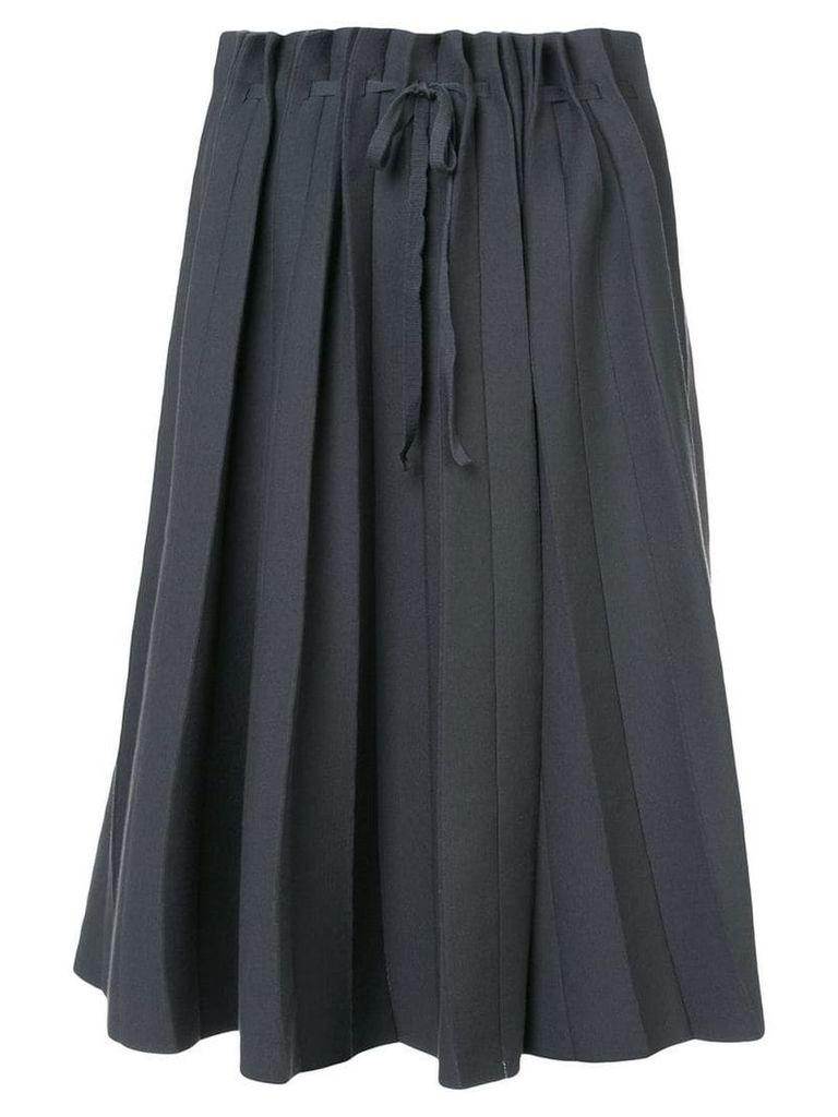Label Under Construction pleated full skirt - Grey
