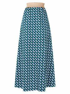 Daniela Pancheri printed midi skirt - Blue