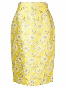 Prada floral patterned skirt - Yellow