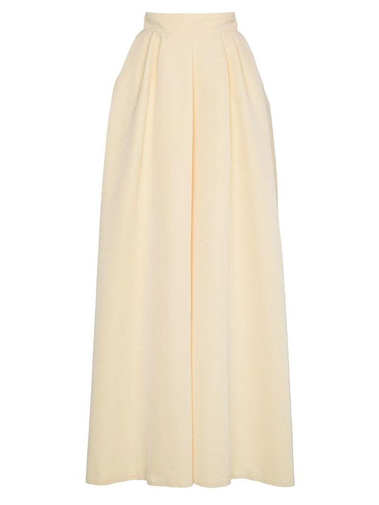 Rochas high waist full maxi skirt - Yellow