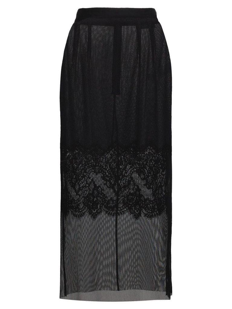 Dolce & Gabbana Layered lace pencil skirt - Black