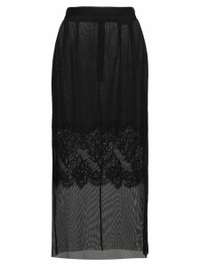 Dolce & Gabbana Layered lace pencil skirt - Black