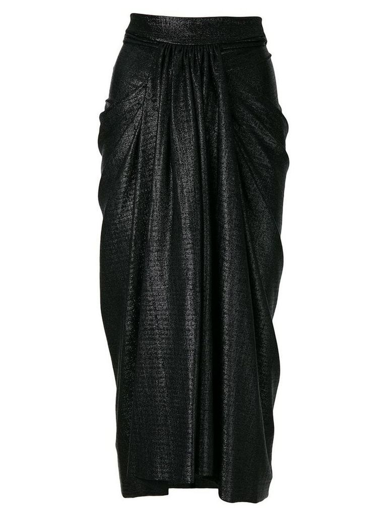 Rick Owens Lilies pleated midi skirt - Black