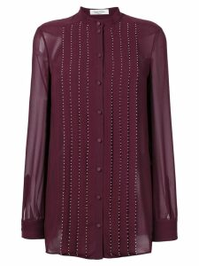 Valentino embellished pleated blouse - Pink