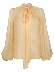 Nº21 pussy-bow blouse - Yellow