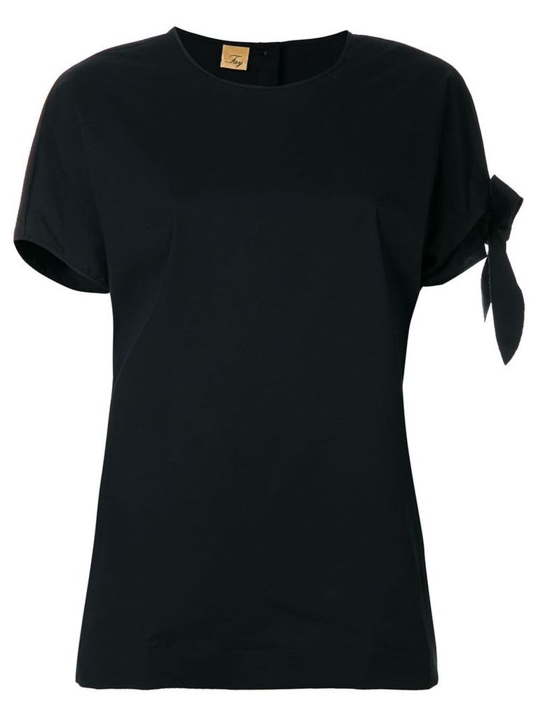 Fay side tie T-shirt - Black