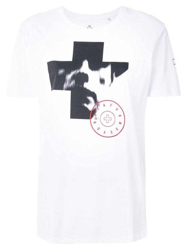 A.F.Vandevorst cross print T-shirt - White