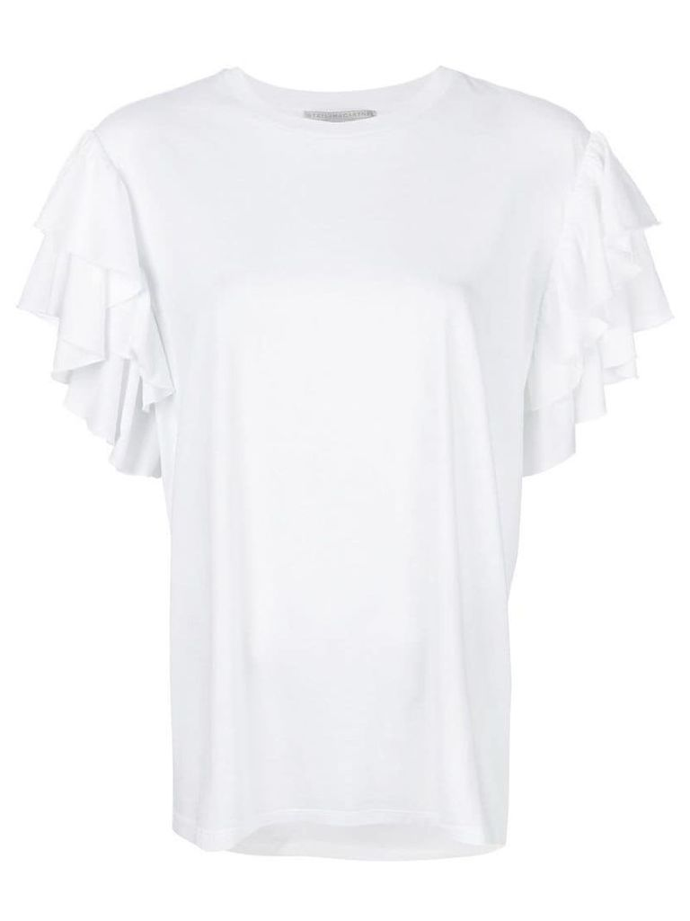 Stella McCartney ruffle sleeved T-shirt - White