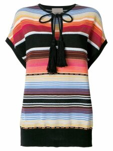 Laneus Mexico striped T-shirt - Multicolour
