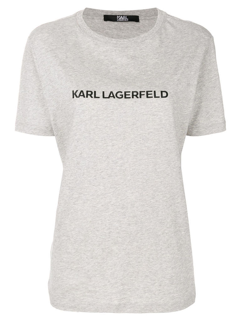 Karl Lagerfeld printed relaxed fit T-shirt - Grey