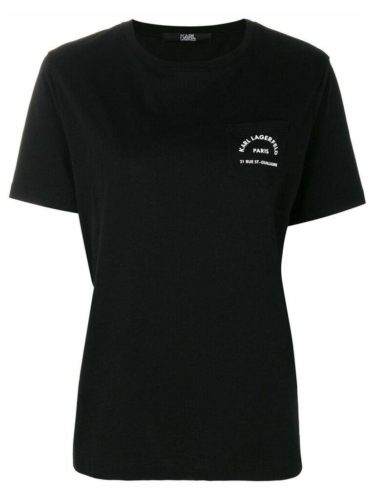 Karl Lagerfeld logo pocket T-Shirt - Black
