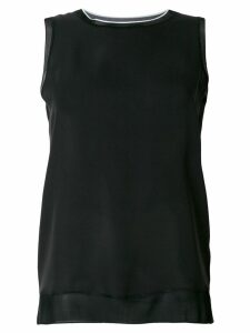 Theory round neck tank top - Black
