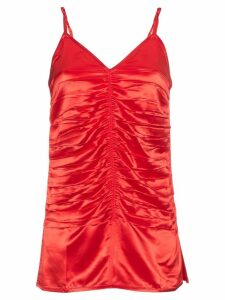 Helmut Lang Red Ruched Top