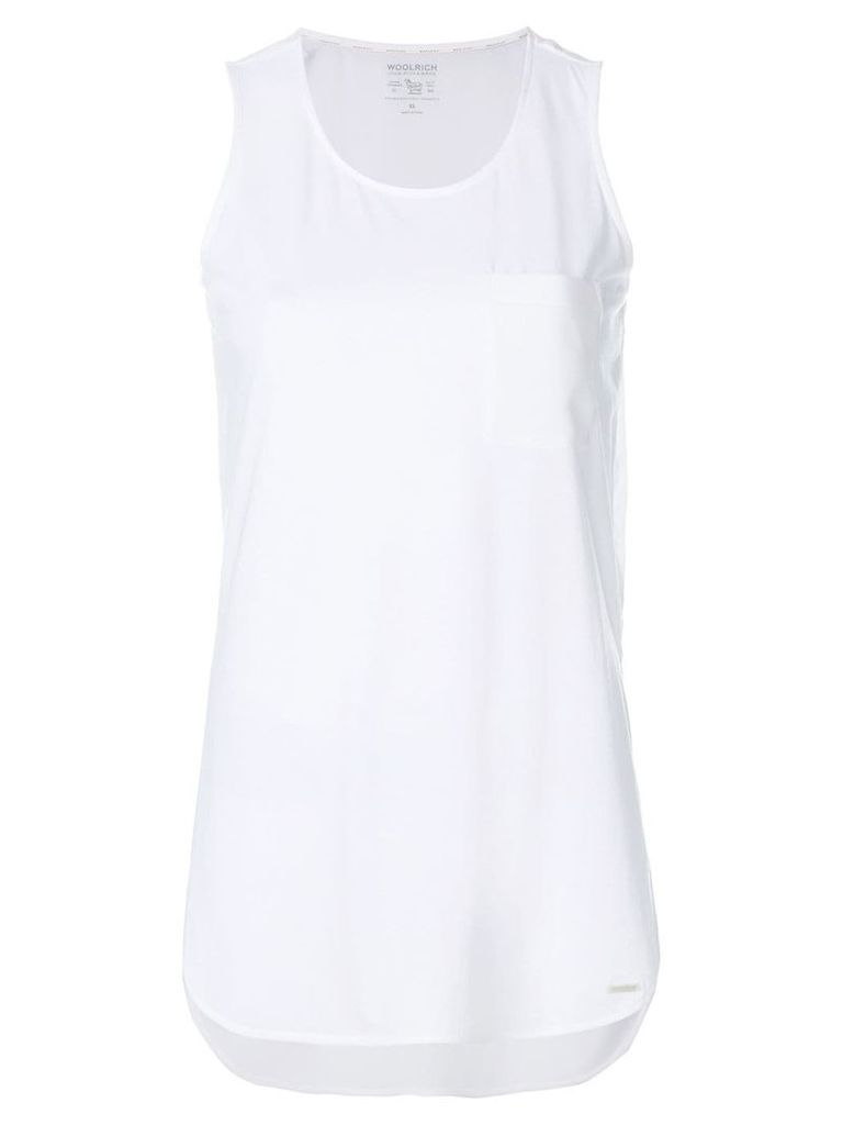 Woolrich long-line tank top - White