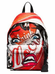 Moschino Multicoloured Face print backpack