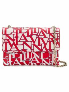 Lanvin printed logo shoulder bag - Red