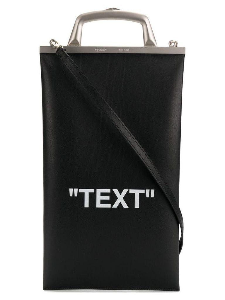 Off-White Text Market tote bag - Black