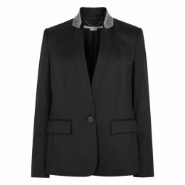 Stella McCartney Fleur Black Wool Blazer