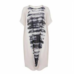Long Graphic Print Skater Dress