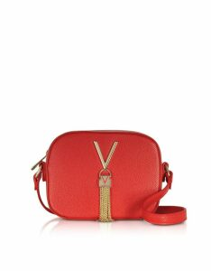 Valentino by Mario Valentino Designer Handbags, Lizard Embossed Eco Leather Divina Mini Crossbody Bag
