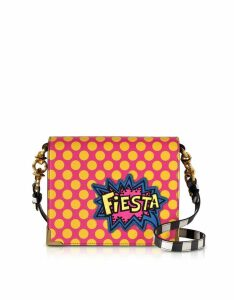 Alessandro Enriquez Designer Handbags, Hera Pop Fiesta Leather Shoulder Bag