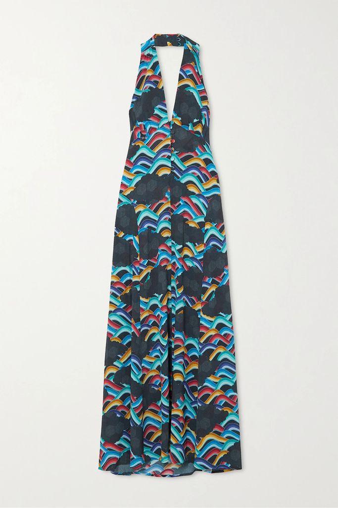 Moncler - Hooded Grosgrain-trimmed Printed Shell Jacket - Black