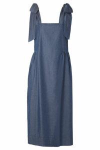 HATCH - Katie Cotton And Tencel-blend Midi Dress - Indigo