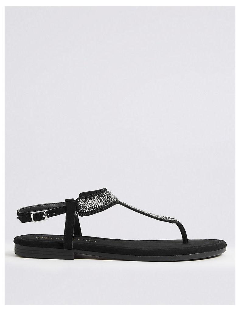 M&S Collection T-Bar Embellished Sandals