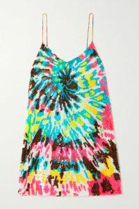 Stella McCartney - One-shoulder Satin And Cady Mini Dress - Navy
