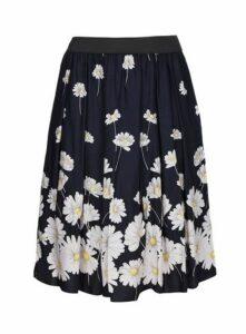 **Scarlett & Jo Navy Blue Daisy Print Full Skirt, Dark Multi
