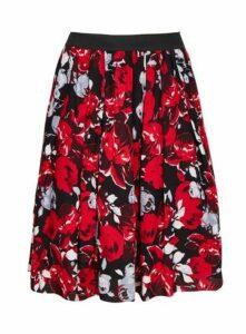 **Scarlett & Jo Red Rose Print Skirt, Red