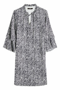 Steffen Schraut Animal Print Silk Dress