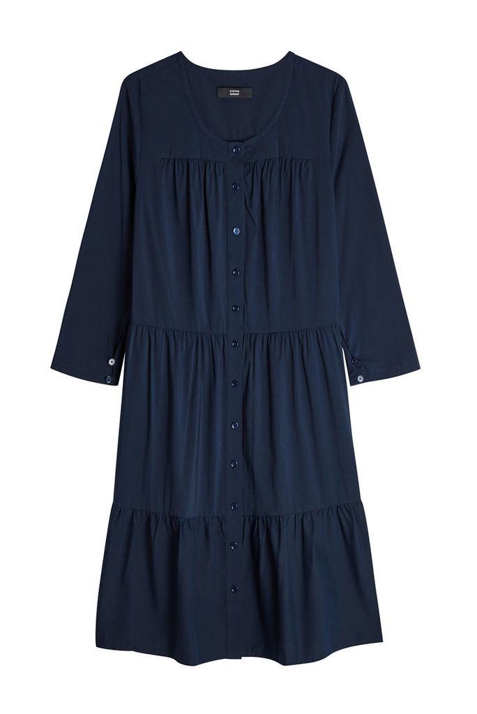 Steffen Schraut Button-Front Dress with Cotton