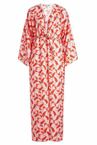 Borgo de Nor Tie Front Printed Dress