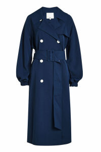 Tibi Drape Twill Trench Coat