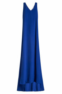 Rosetta Getty Twist Back Crepe Gown