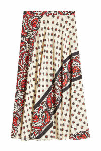 RED Valentino Paisley Print Silk Skirt