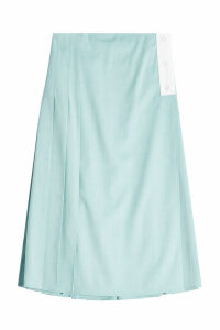 Victoria Beckham Patch Pocket Virgin Wool Midi Skirt
