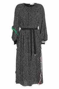 Tibi Martine Shirred Printed Dress