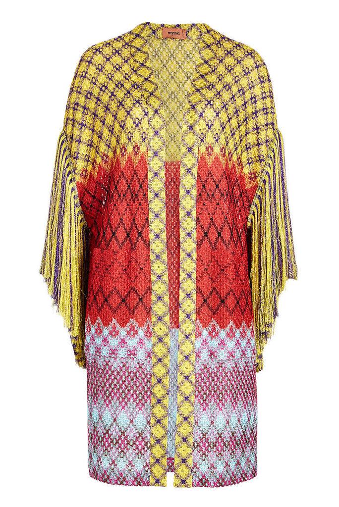 Missoni Fringed Knit Cardigan