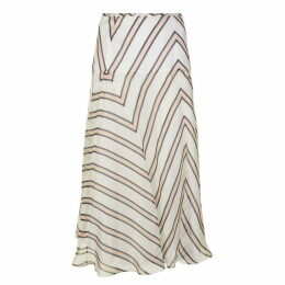 Fendi Stripe Midi Skirt