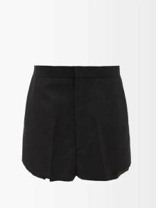Maison Margiela - Round Neck Pleated Detailed Top - Womens - Black