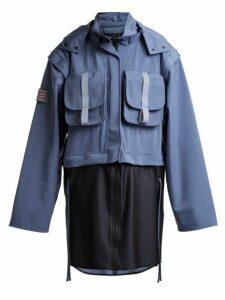 Charli Cohen - Detachable-panel Hooded Technical Parka - Womens - Light Blue