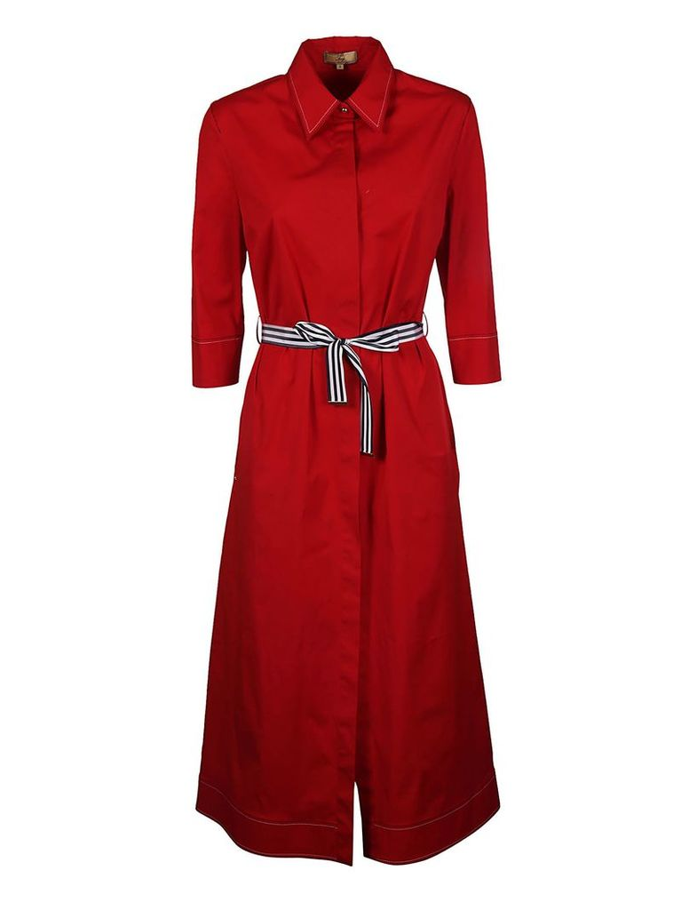 Fay Tie Waist Shirt Dress