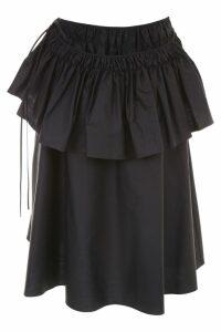 Jil Sander Ruffle Effect Skirt
