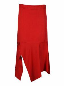 Victoria Beckham Asymmetric Slit Skirt