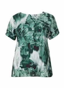 Grace Green Chiffon Tunic, Dark Green