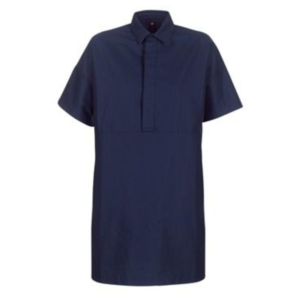 G-Star Raw  DELINE POLO DRESS S/S  women's Dress in Blue