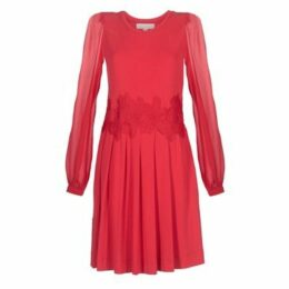 MICHAEL Michael Kors  ELEV LACE COMBO DRS  women's Dress in Red