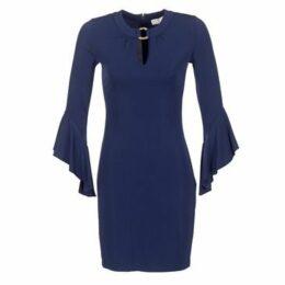 MICHAEL Michael Kors  ELEV FLOUNCE SLV DRS  women's Dress in Blue